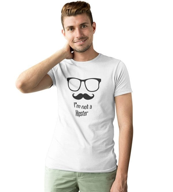 i´m a not hipster camiseta hombre